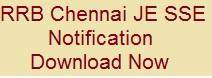 RRB Chennai JE SSE